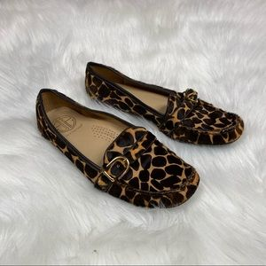 Lilly Pulitzer Animal Print Slip On Loafers